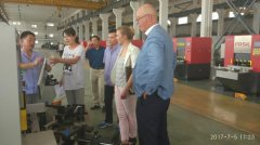 2017年7月5日波兰客户来厂参观
